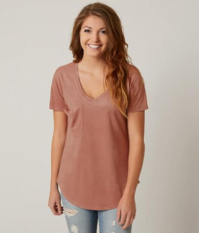 White Crow Faux Suede Top