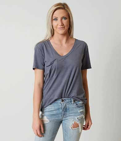 White Crow Faux Suede Pocket T-Shirt