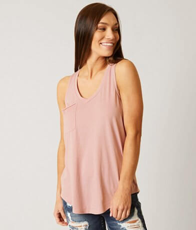 White Crow Pocket Tank Top