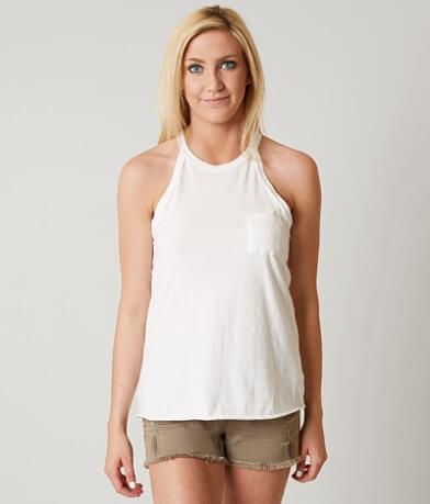 White Crow Rosette Tank Top