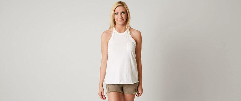 White Crow Rosette Tank Top front view
