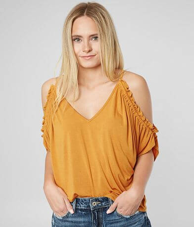 White Crow The Kenner Cold Shoulder Top