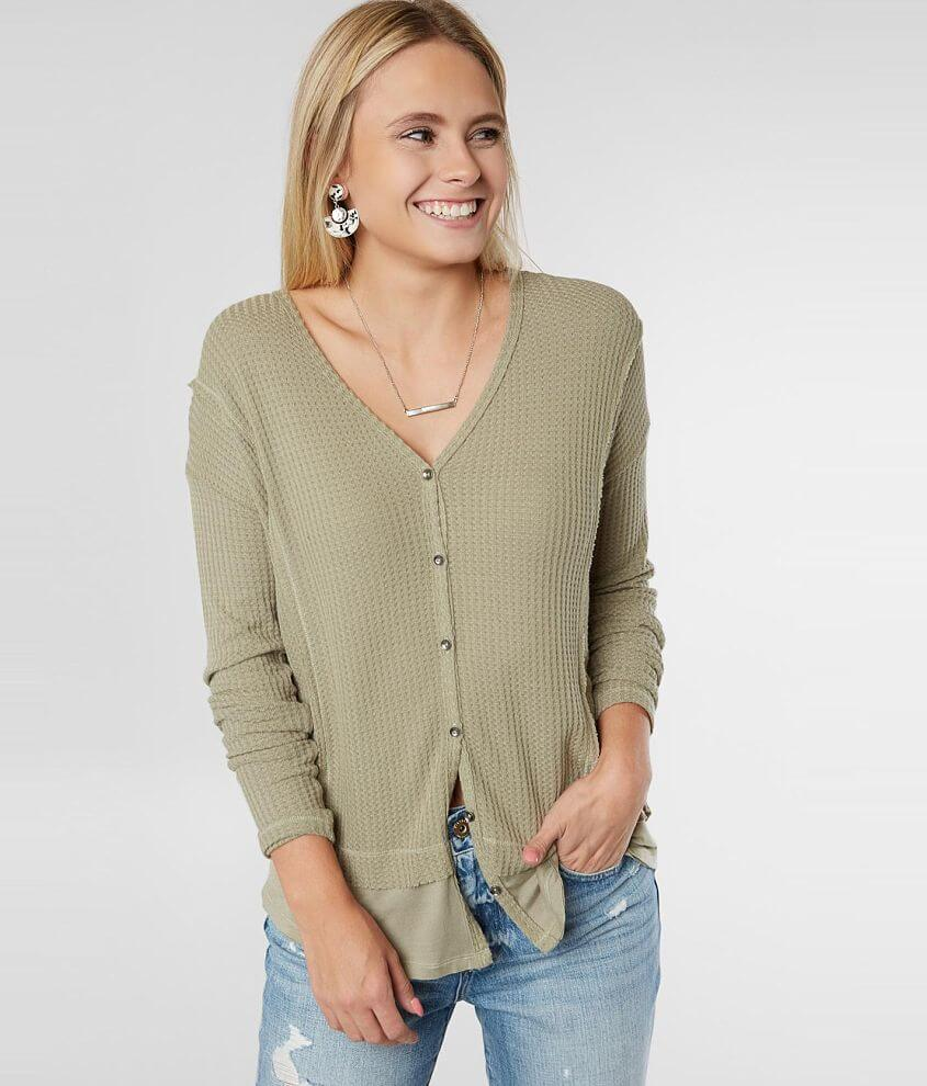 White Crow Cheraw Raw Edge Thermal Top front view