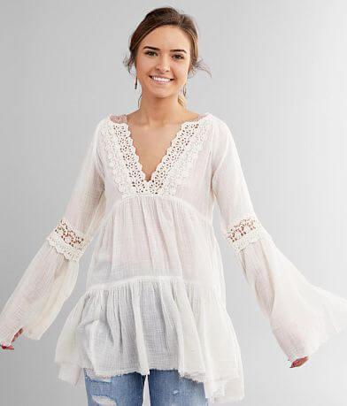 White Crow Maya Boho Tunic Top