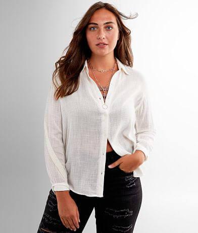 White Crow La Paz Textured Woven Shirt