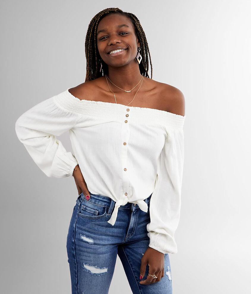 White Crow Soto Off The Shoulder Top front view