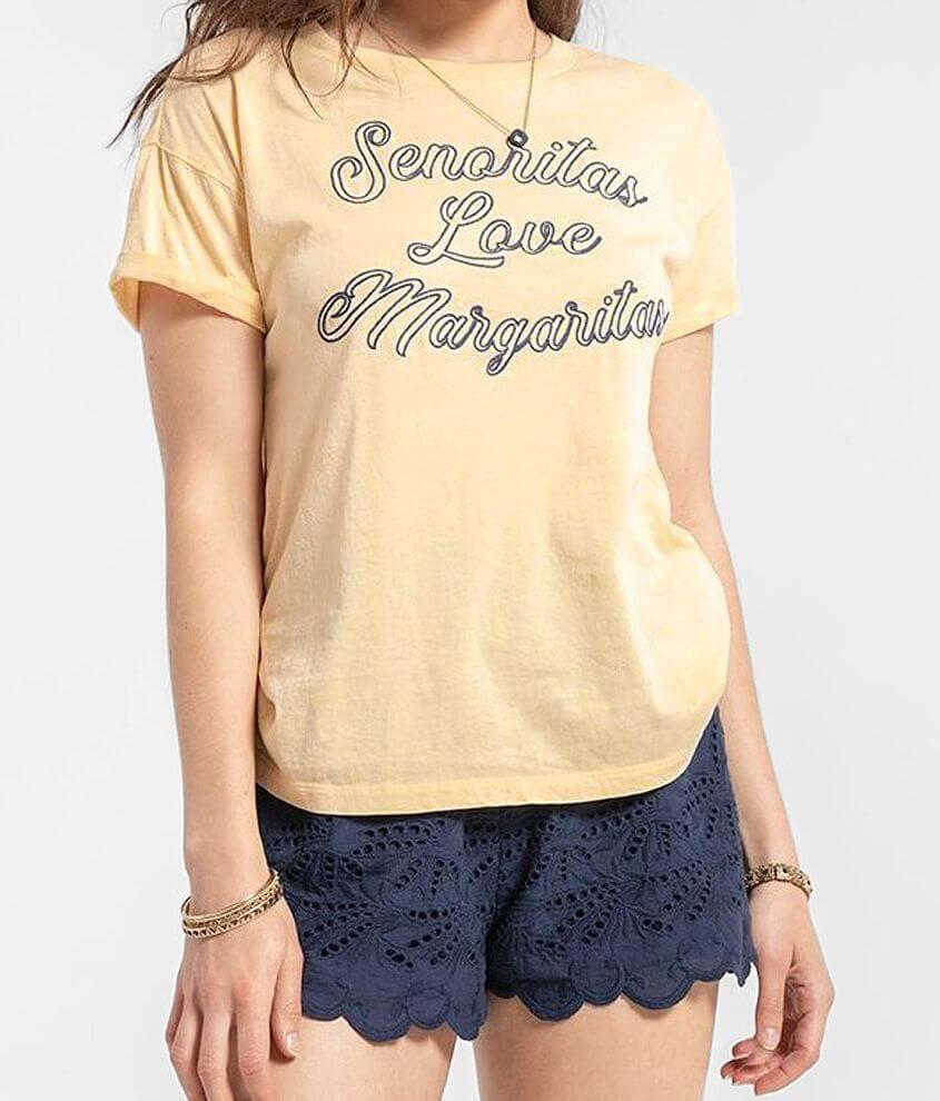White Crow Senoritas Love Margaritas T-Shirt front view