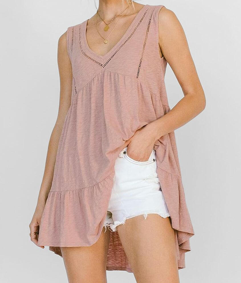 White Crow Rosal Tunic Tank Top front view