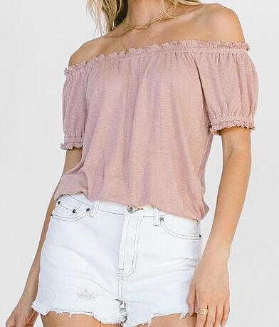White Crow Merced Off The Shoulder Top