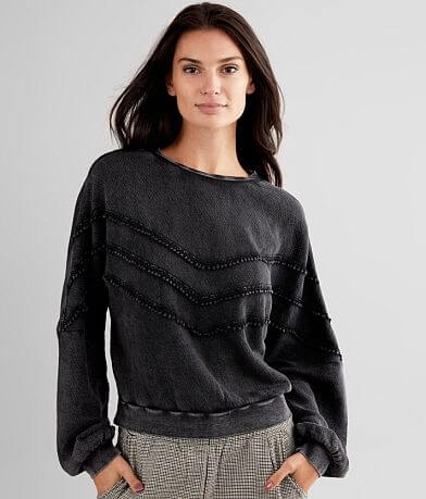 White Crow Hayes Washed Drop Shoulder Pullover
