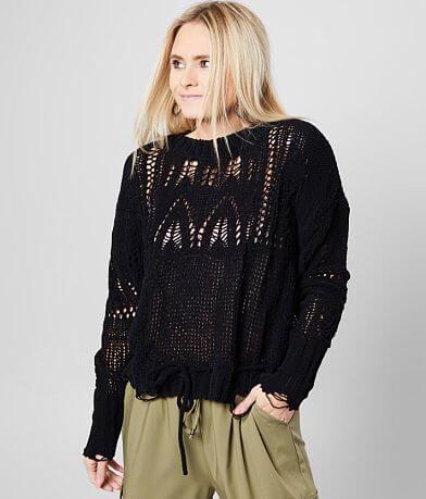 White Crow Calaveras Shredded Sweater