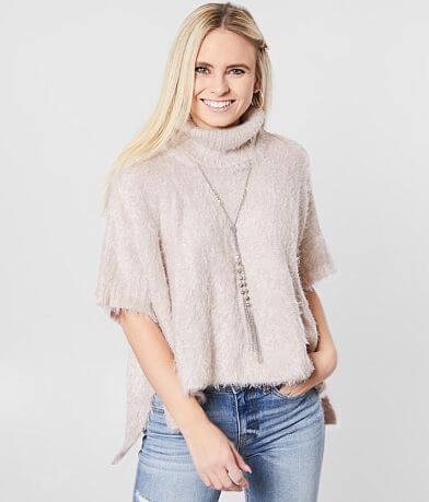 White Crow Avila Cowl Neck Cape Sweater