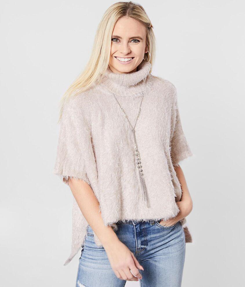 White Crow Avila Cowl Neck Cape Sweater front view