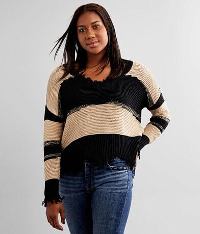 White Crow Hope Striped Sweater