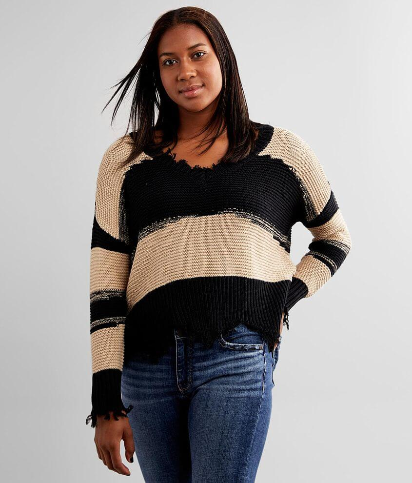 White Crow Hope Striped Sweater front view