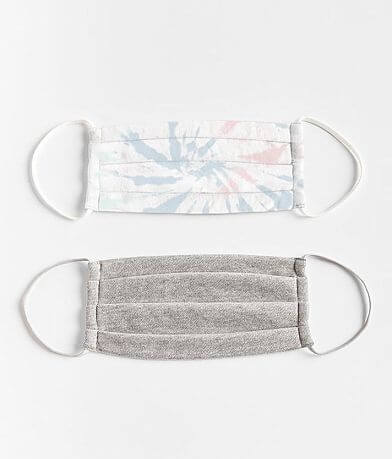 White Crow Tie Dye 2 Pack Face Masks