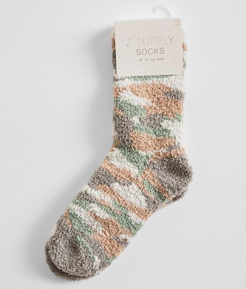 Z Lounge Camo Plush Socks front view