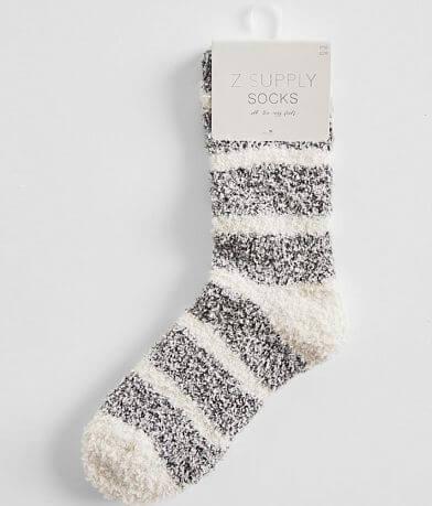 Z Lounge Striped Plush Socks