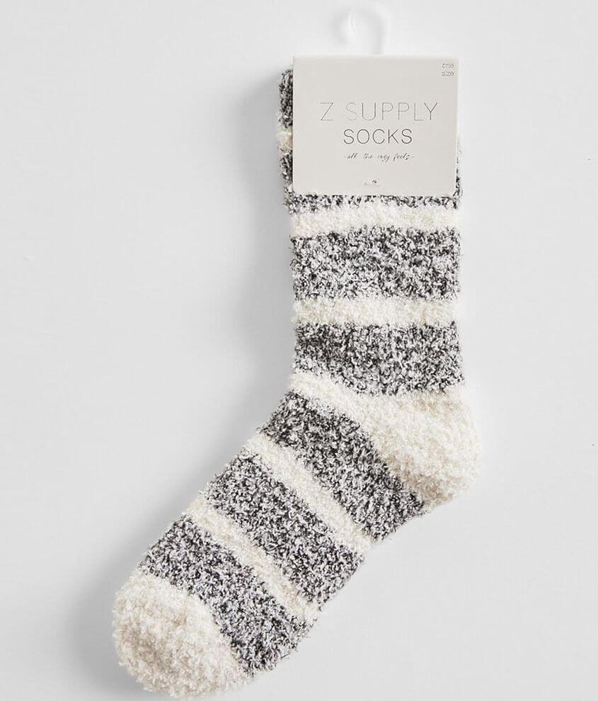 Z Lounge Striped Plush Socks front view