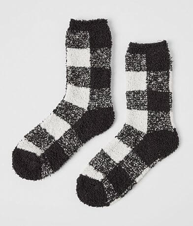 Z Supply Plush Checker Socks