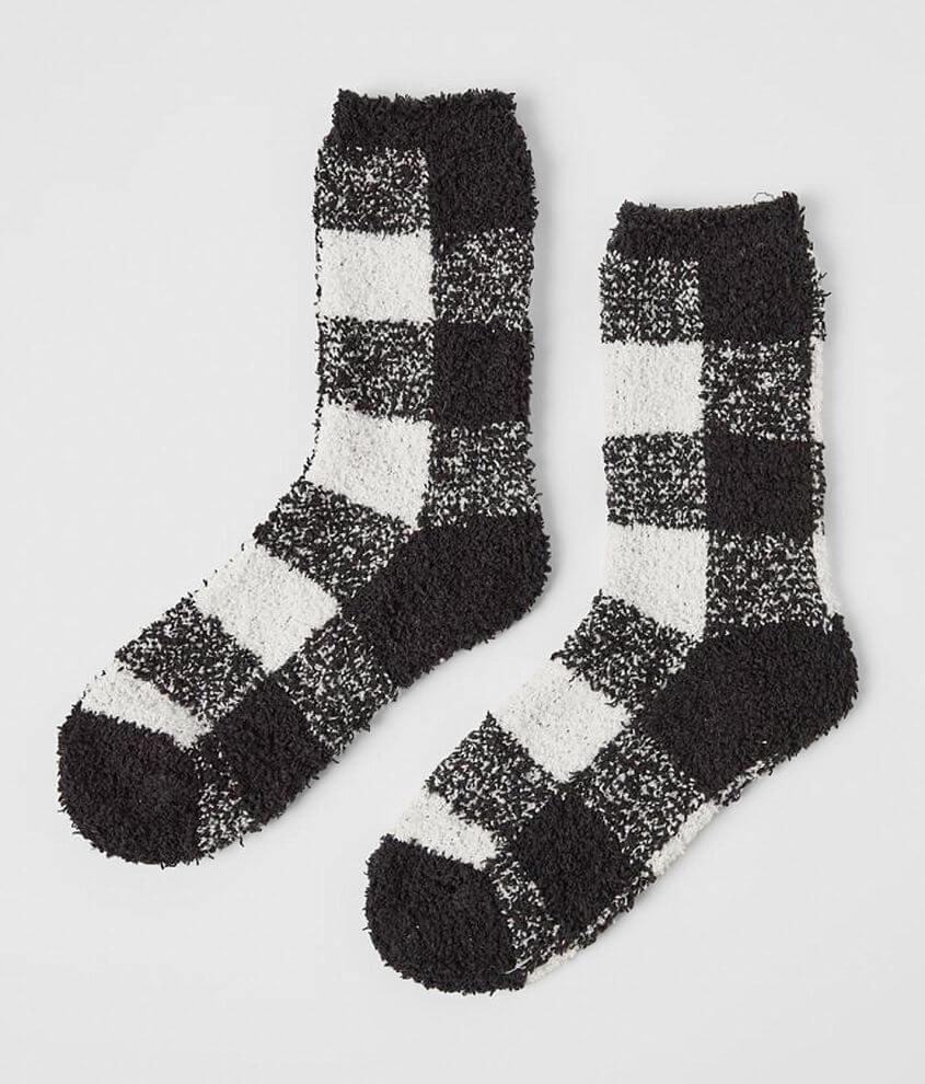 Z Supply Plush Checker Socks front view
