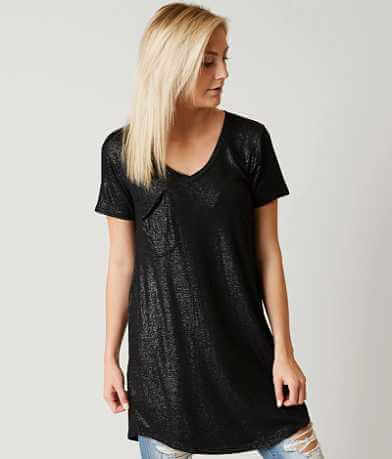White Crow Pocket Tee Shimmer Top