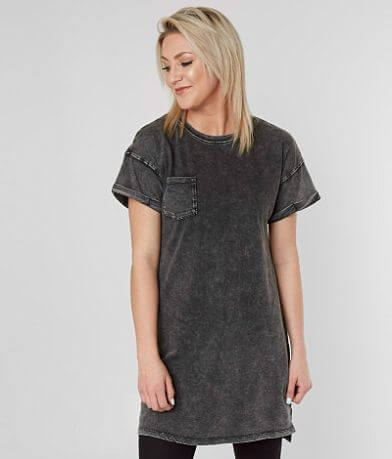 White Crow The Washed Cotton Tunic T-Shirt