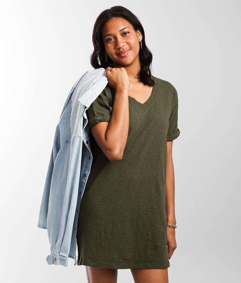 Z Supply The V-Neck T-Shirt Dress front view