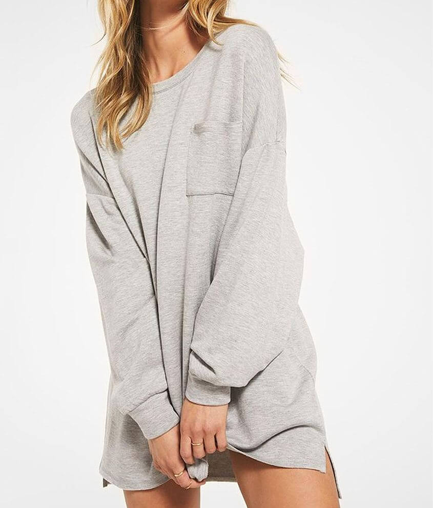 Z Lounge Harper Fleece Tunic Pullover front view