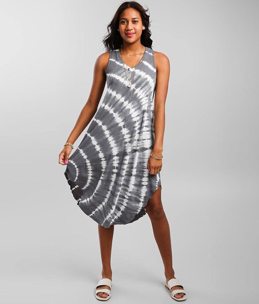 Z Supply Reverie Spiral Midi Dress front view