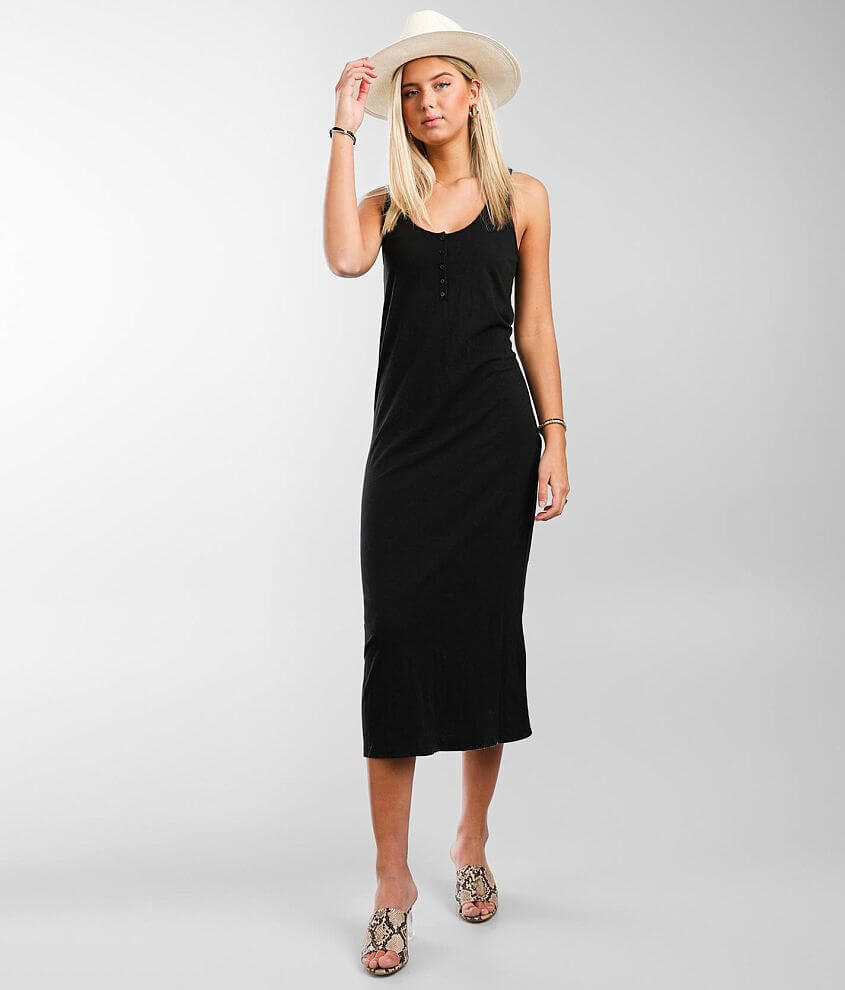 Z Supply Miley Henley Midi Dress front view