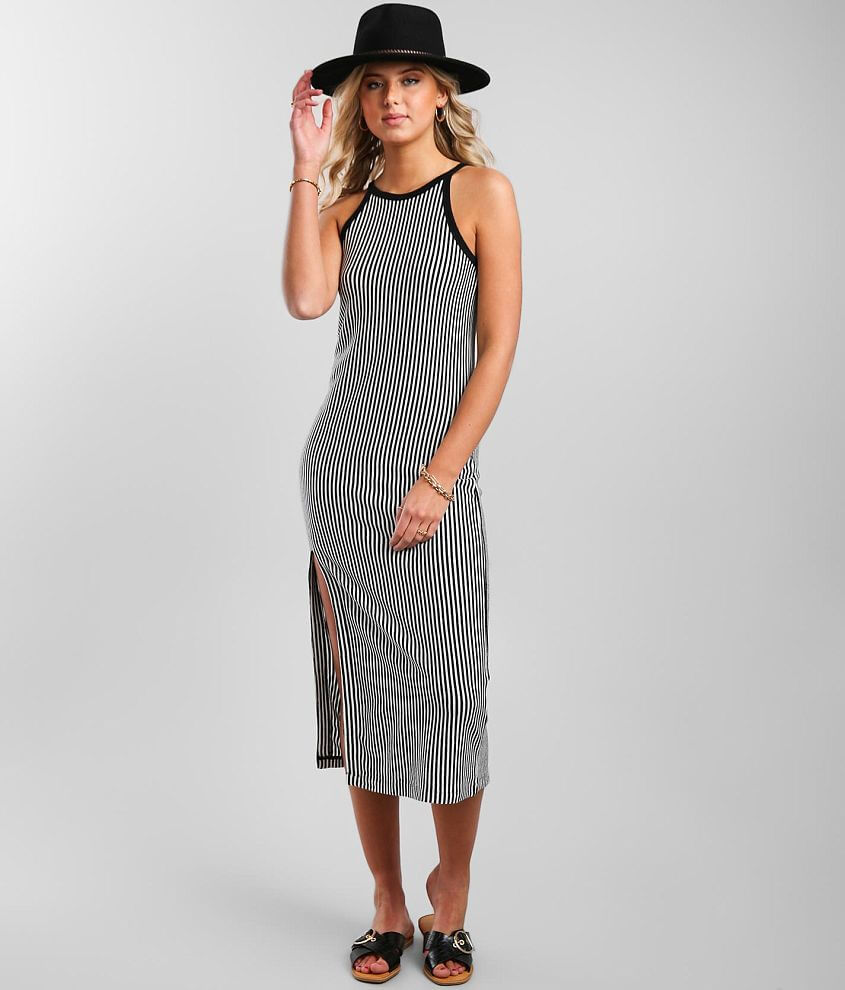 Z Supply Palisades Stripe Midi Dress front view