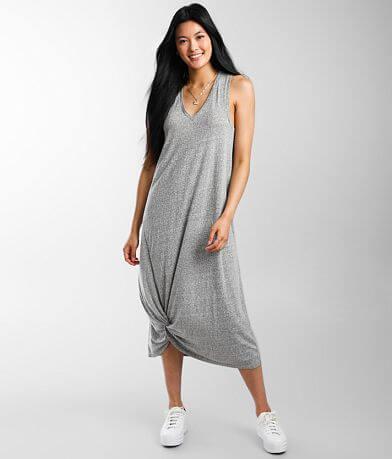 Z Supply Reverie Twisted Hem Midi Dress