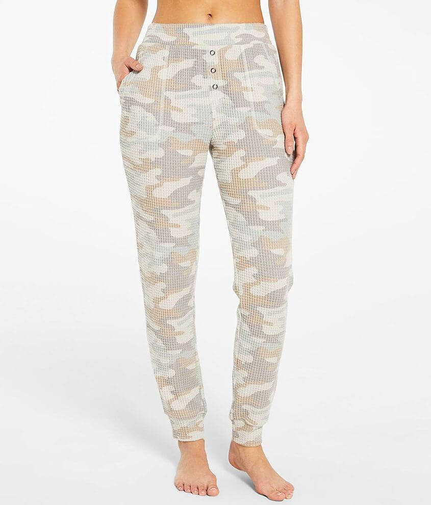 Z Lounge Cozy Camo Waffle Knit Jogger front view