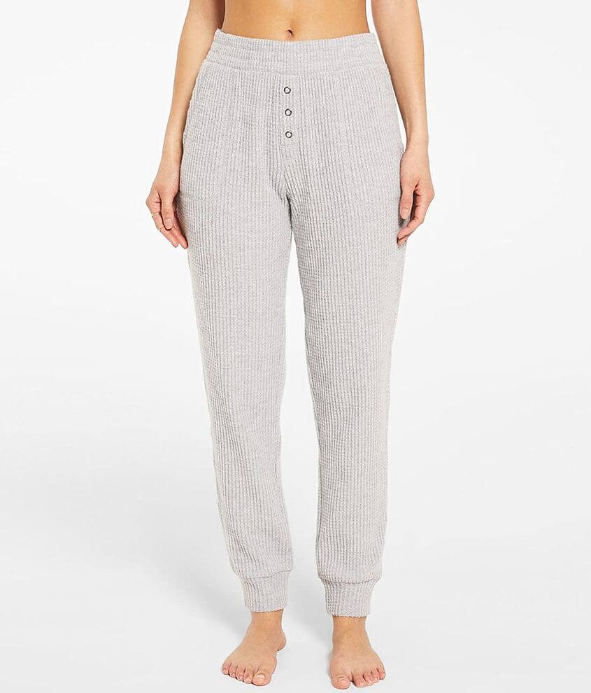Z Lounge Cozy Waffle Knit Jogger front view