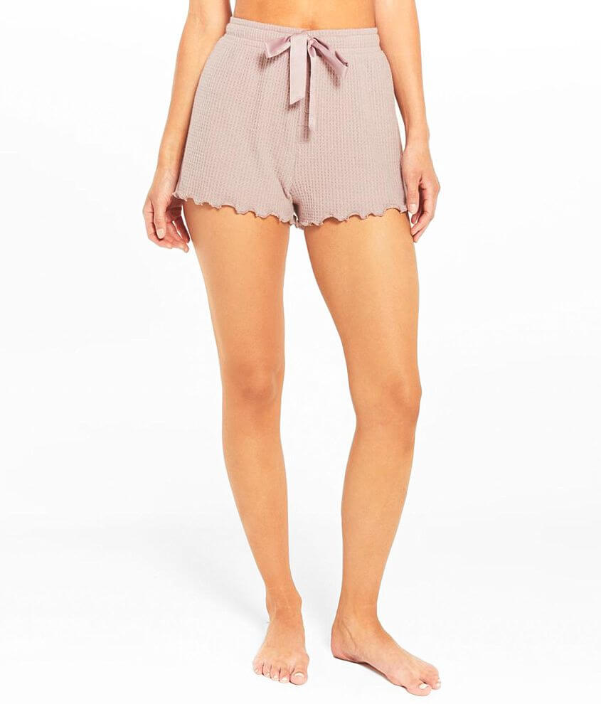 Z Lounge Frills Thermal Knit Short front view