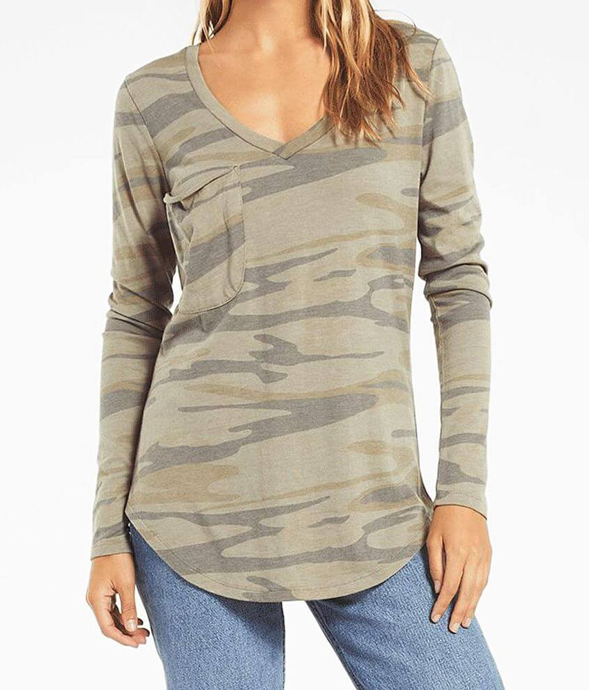 Z Supply The Camo Long Sleeve T-Shirt front view