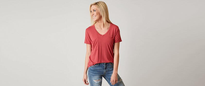 White Crow Sleek Jersey Pocket T-Shirt front view