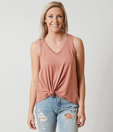 White Crow Faux Suede Tank Top