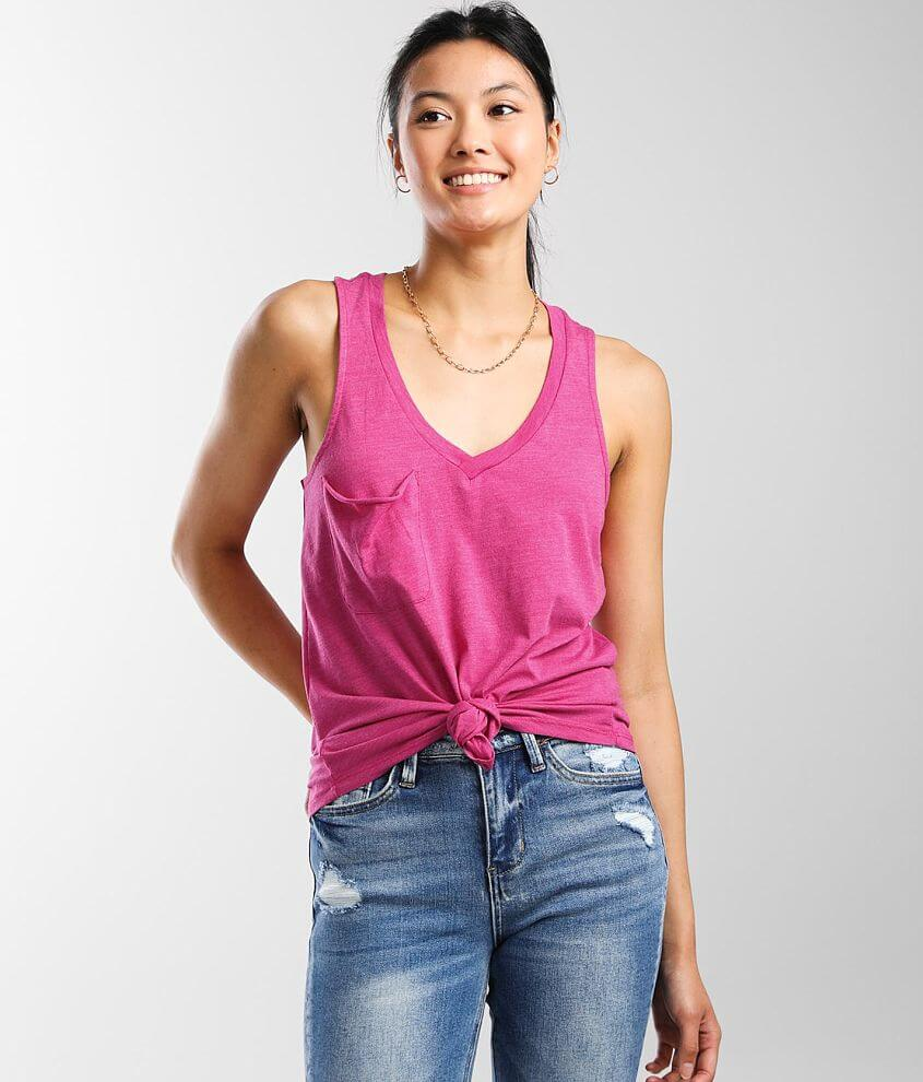 Z Supply The Pocket Racer Tank Top front view
