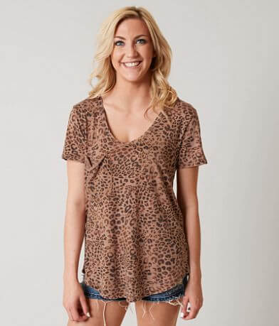 White Crow Leopard Pocket T-Shirt