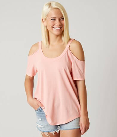 White Crow Cold Shoulder Top