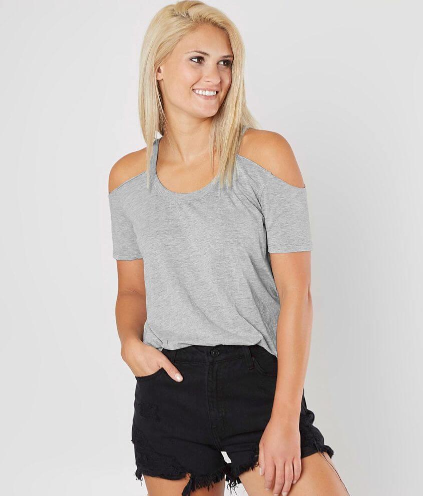 de7ae381de132 Z Supply The Cold Shoulder T-Shirt - Women s T-Shirts in Heather ...