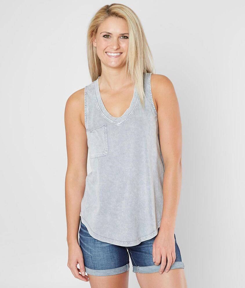 8c390185e3cd7 White Crow Washed V-Neck Tank Top - Women s Tank Tops in Grey