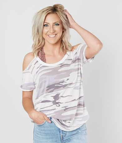 Z Supply The Camo Cold Shoulder T-Shirt