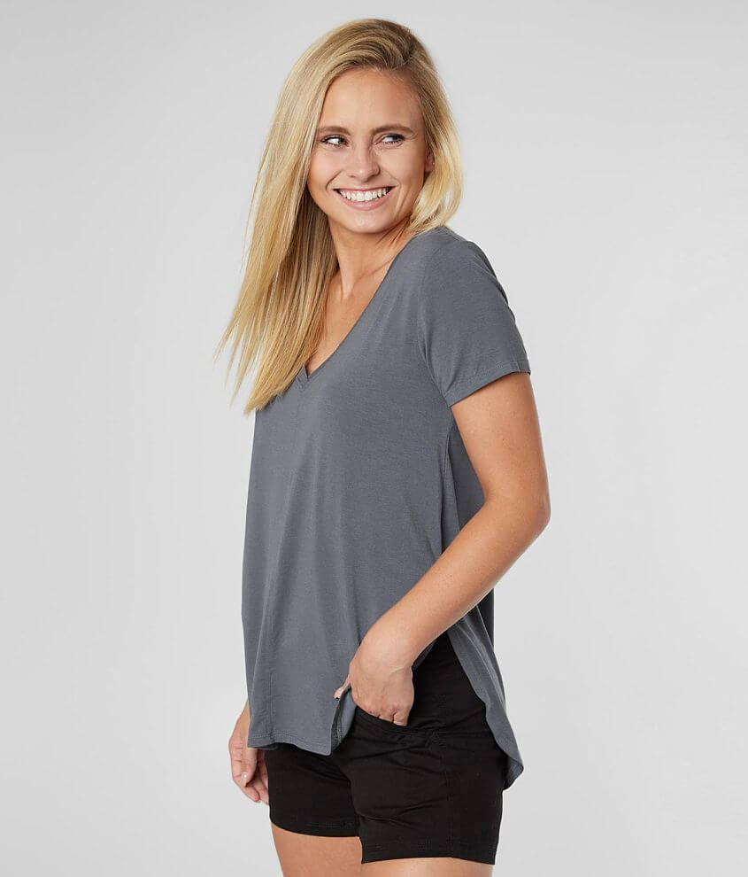 White Crow The Mya V-Neck Top front view