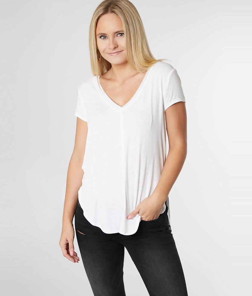 Z Supply The Mya V-Neck Top front view