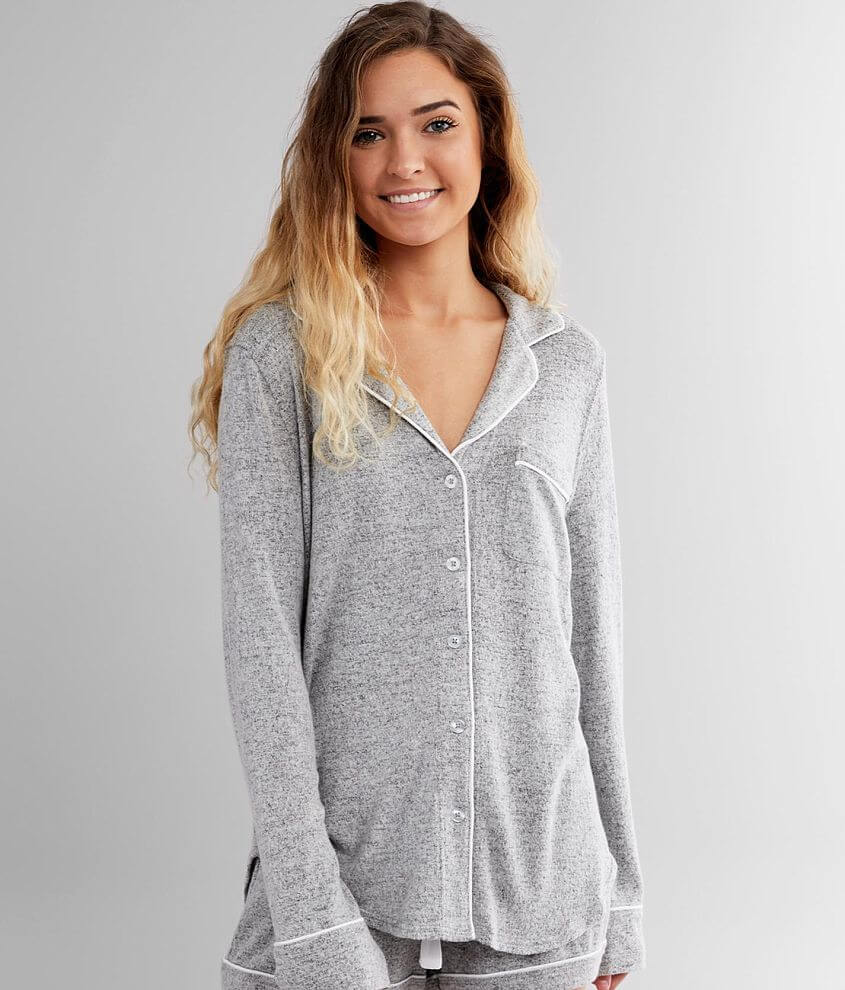 Z Supply Brushed Knit Pajama Top front view