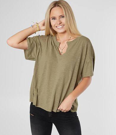 2724518c Z Supply The Airy Slub Knit Slouchy T-Shirt