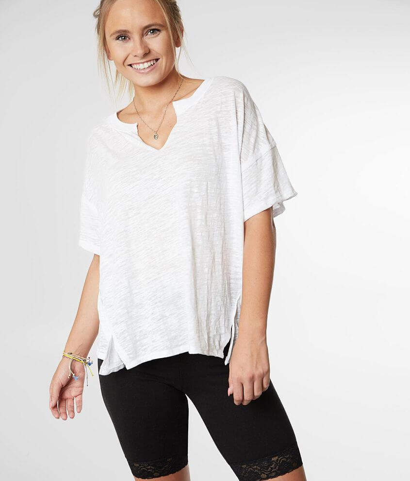 Z Supply The Airy Slub Knit Slouchy T-Shirt front view